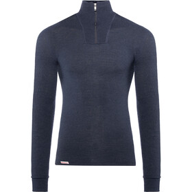 Woolpower 200 Sweat-shirt à col roulé avec demi-zip Femme, dark navy